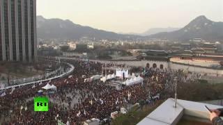 Thousands rally for President Park's impeachement in Seoul, South Korea