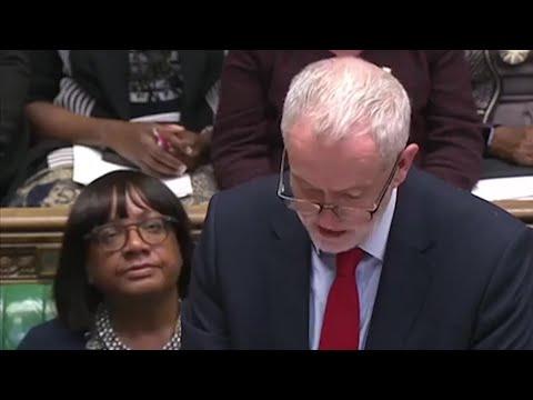 Jeremy Corbyn attacks Theresa May over Syria strikes