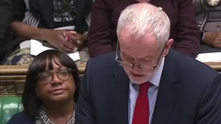 Jeremy Corbyn attacks Theresa May over Syria strikes