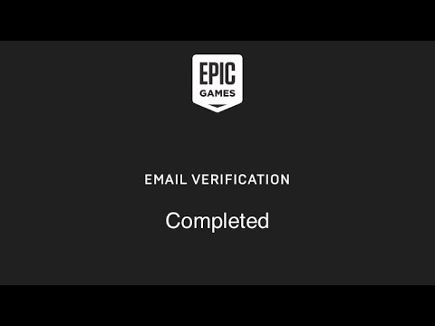 How To Verify Your Epic Games Email!