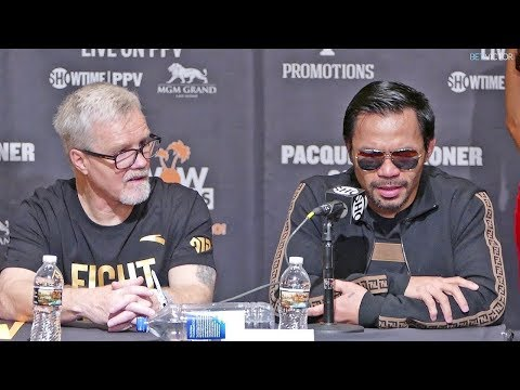 Manny Pacquiao vs. Adrien Broner post fight press conference (Broner thinks he won)