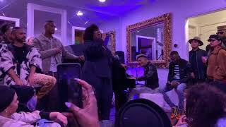 Amber Riley SINGS Never Enough and Shallow with Stevie Mackey at Taco Tuesday!