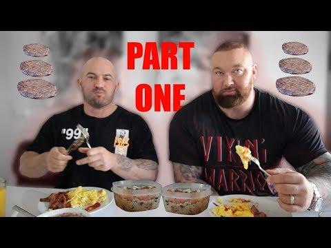 Day of eating! Hafthor Bjornsson + Sebastian Oreb