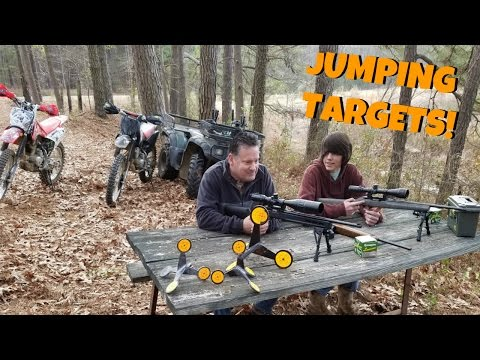 Jumping Targets! The Funnest Way to Waste Ammo!?! 22 Shooting!