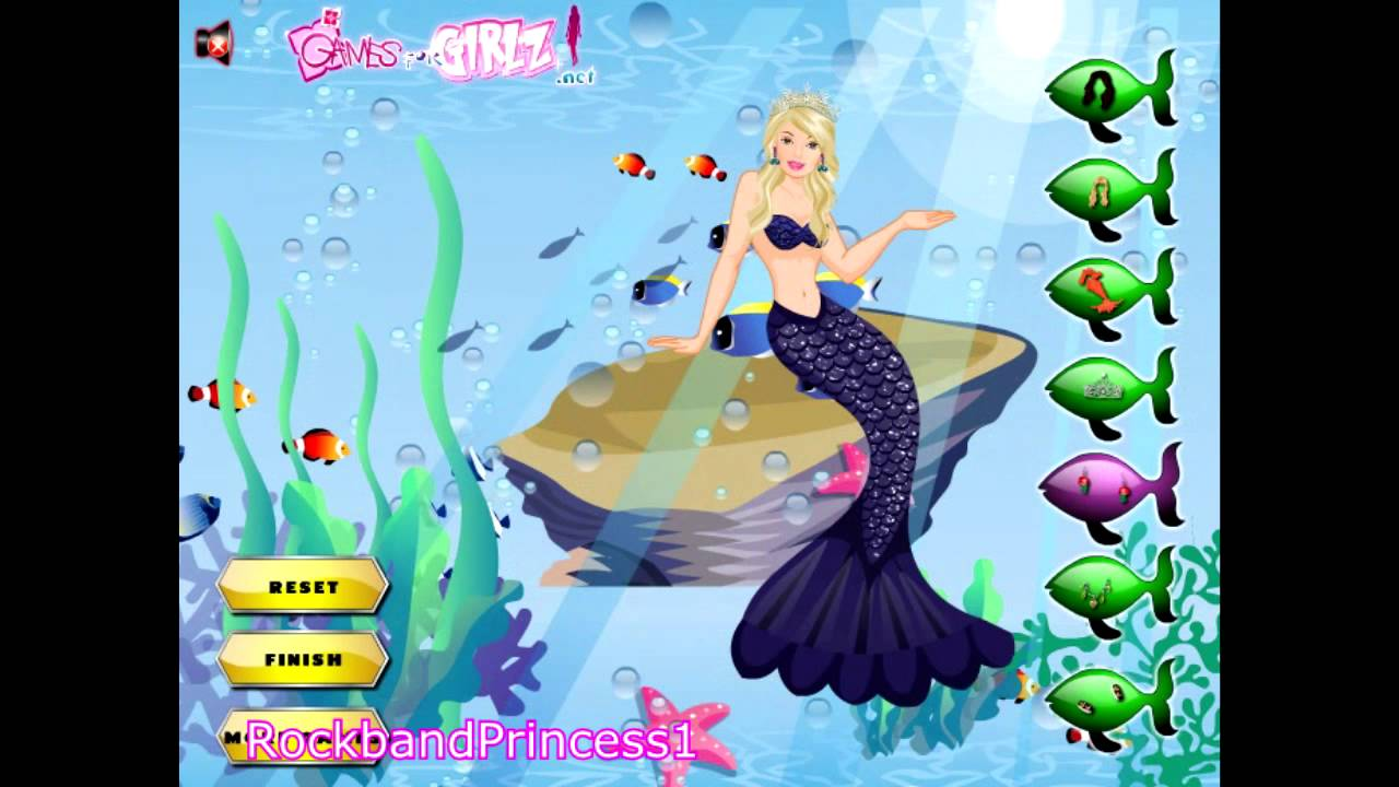 Barbie Mermaid Tale Dress Up Game - Barbie Mermaidia Dress Up ...