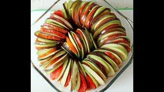 РАТАТУЙ - Запеченные овощи / Кабачки, баклажаны, помидоры в соусе / Овощной тиан / РЕЦЕПТ БЛЮДА