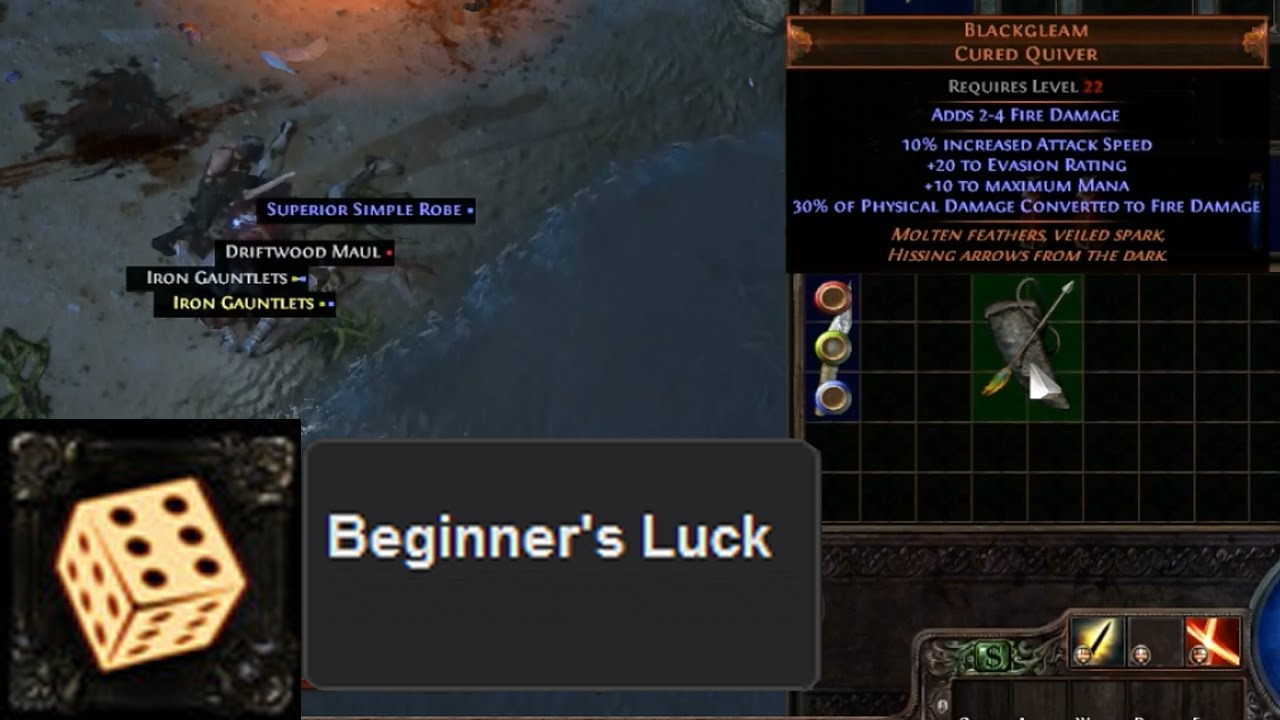 PoE Tips: How To Get Beginners Luck - YouTube