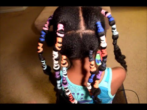 Stretching Natural Hair with No Heat - Banding Method - Children's Hair