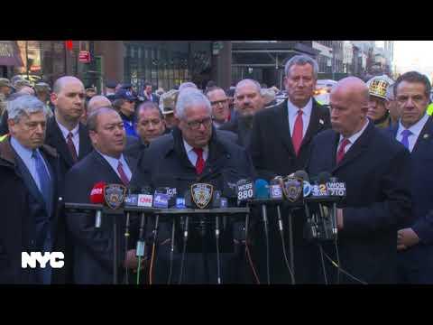 Mayor de Blasio Holds Media Availability on Time Square Explosion