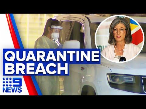 Coronavirus: Man disobeys quarantine rules to go shopping | 9 News Australia