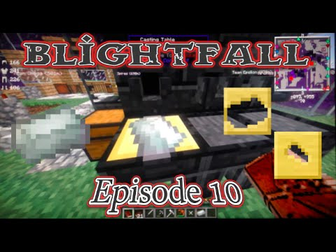 Minecraft Blightfall Let's Play Ep.10: Creating Gold Casts + Making Invar Ingots