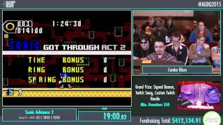 Awesome Games Done Quick 2015 - Part 94 - Sonic Advance 2 by Combo Blaze