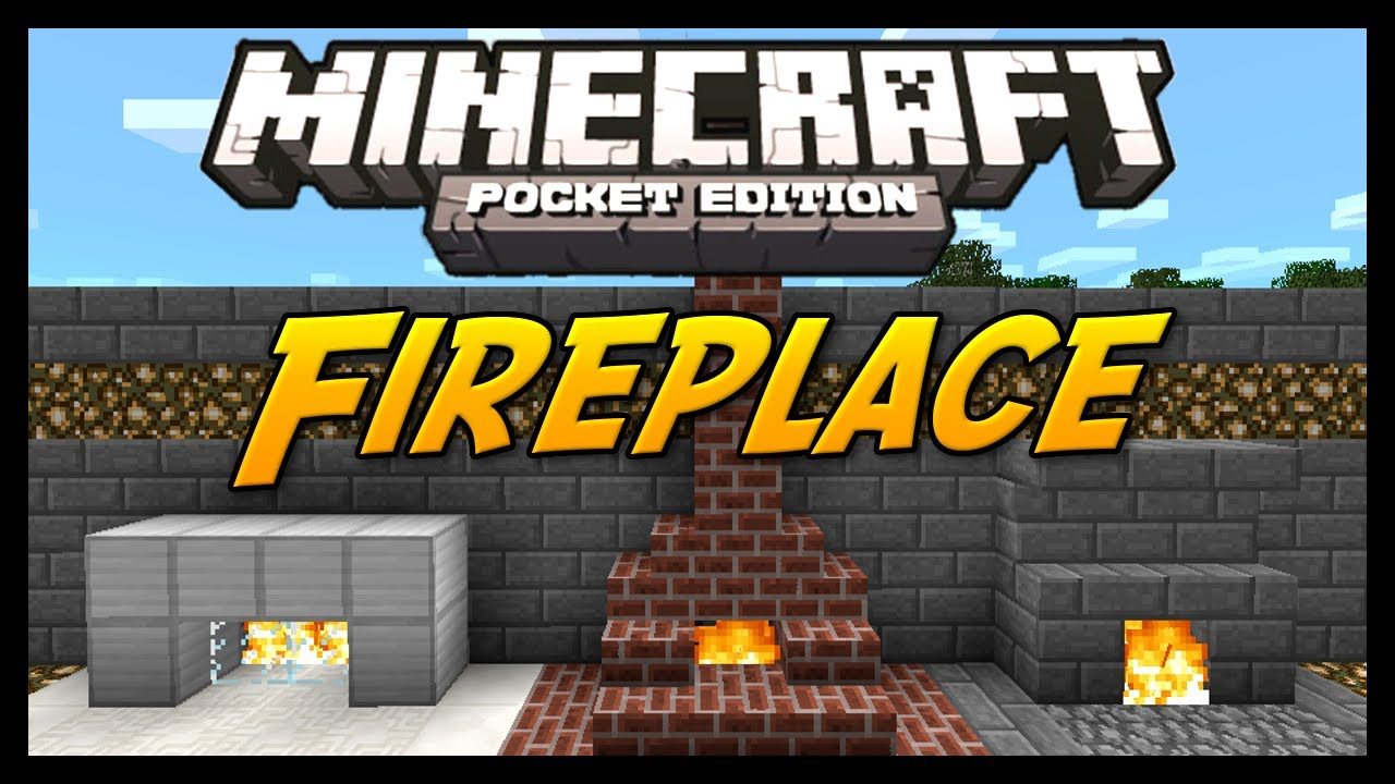 how to make a safe fireplace in minecraft pe