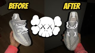 HOW TO LACE YEEZYS 'KAWS' STYLE *STEP BY STEP*