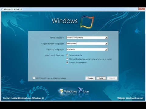 How To Make Windows Xp/vista/7 Look Like Windows 8 Using (Ux Theme)