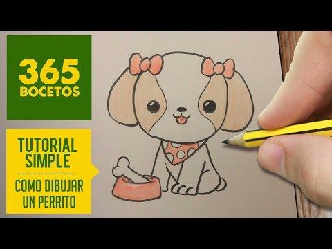 Como Dibujar Perritos Kawaii Paso A Paso Dibujos Kawaii Faciles