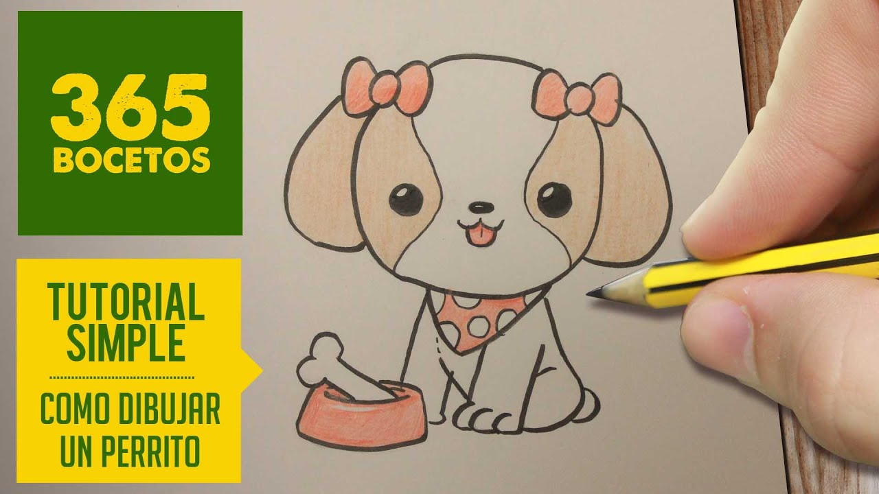 COMO DIBUJAR PERRITOS KAWAII PASO A PASO , Dibujos kawaii faciles , How to  draw a dog , YouTube