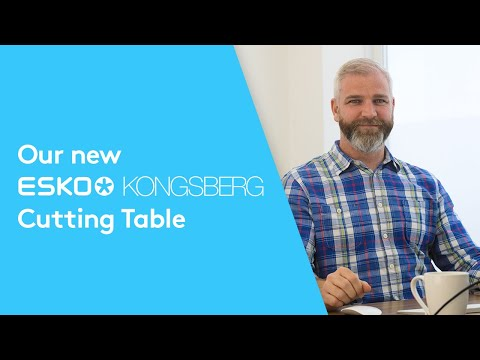 Our new in-house Kongsberg Cutting Table