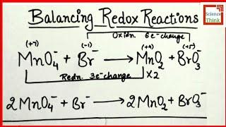 Oxidation Number Method - Basic Medium in Hindi   SCIENCE THINK