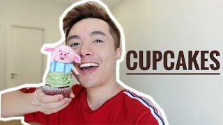 #1 Hướng dẫn nặn cupcake chú lợn dễ thương // How to make cute pig fondant cake topper.