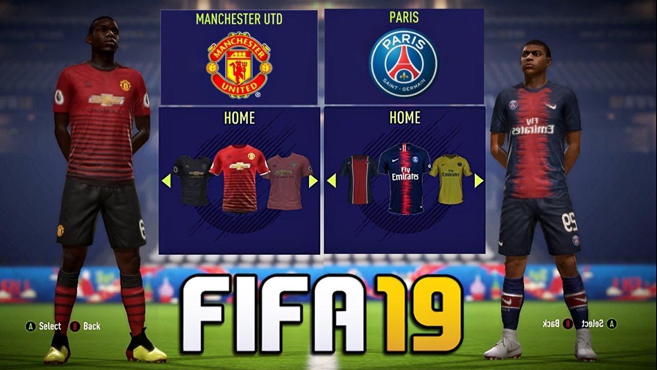 c92b26486a83 FIFA 19 - New Kits FT. Barcelona , Real madrid , Man Utd , PSG etc ...