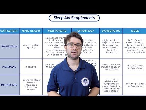Sleep Aid Supplements | How To SLEEP BETTER | Bodybuilding And Sleep