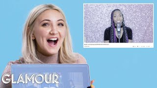 Julia Michaels Watches Fan Covers on YouTube | You Sang My Song | Glamour