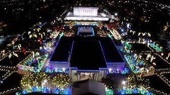 From the Air - Mesa Arizona Temple Christmas Lights 2014