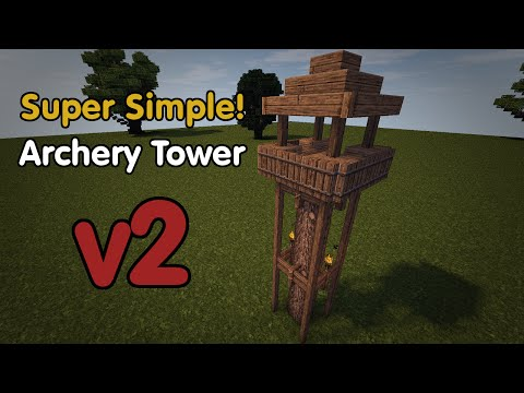 How To Build An Archery Tower V2   Minecraft Super Simple! Series