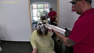 Airtouch техника окрашивания волос с мягким градиентом цвета