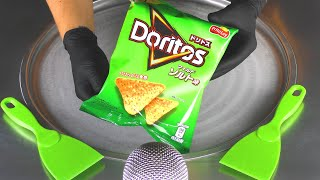 ASMR - Doritos Ice Cream Rolls   how to make sweet & salty Frito Lay fried  Ice Cream Roll - Food 먹방