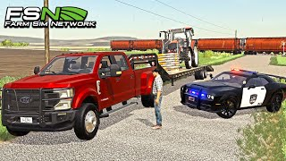 COPS CALLED ON FARM TRESPASSERS! (WE CAUGHT THEM) | FARMING SIMULATOR ROLEPLAY