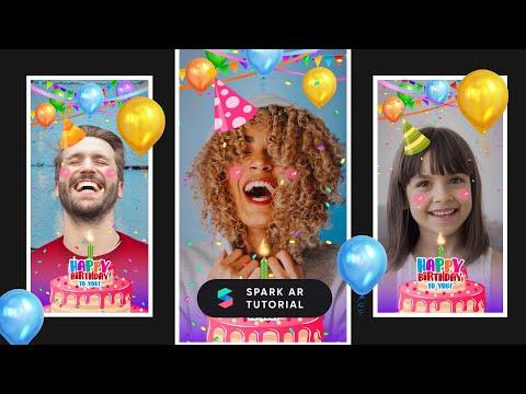 [Part 1] Spark AR tutorial | Happy Birthday - Interactive filter (Instagram)