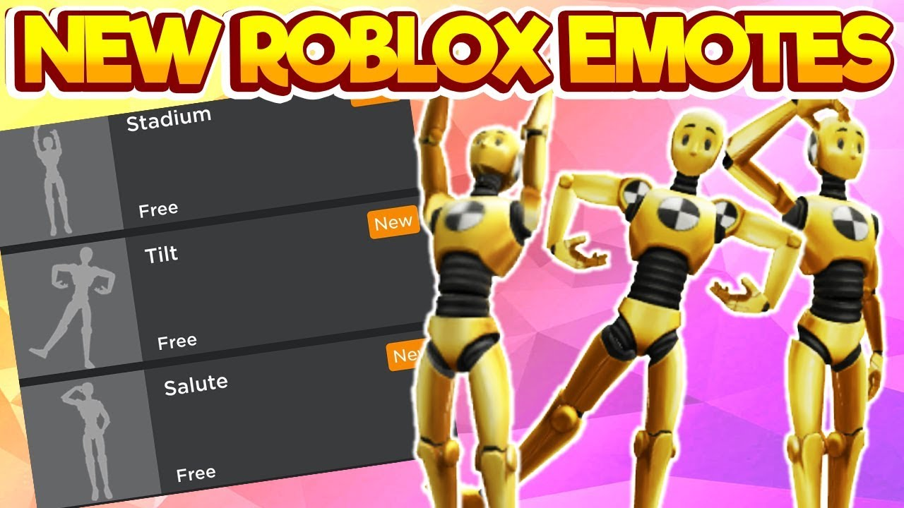 New Roblox Emotes Free - Update New Roblox Emotes Links In Description
