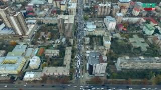 Бишкекские  пробки во время ШОС с высоты птичьего полета