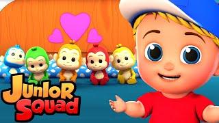 пять маленьких обезьян музыка для малышей обучающие Junior Squad Russia детские песни