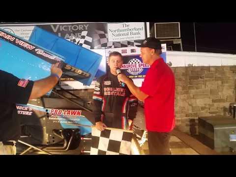 Selinsgrove Speedway 360 Sprint Car Victory Lane 8-15-15