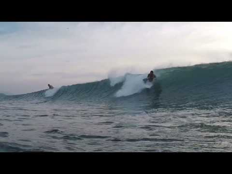 Surfing in Aceh at the aframe