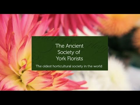 The oldest horticultural society in the world - the Ancient Society of York Florists