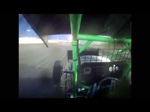 I-80 Speedway Spring Meltdown Tony Rost 360 Sprint Car B Main in car camera