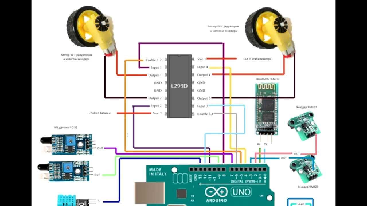 Robot arduino АлёнаМобиль часть инструкция по