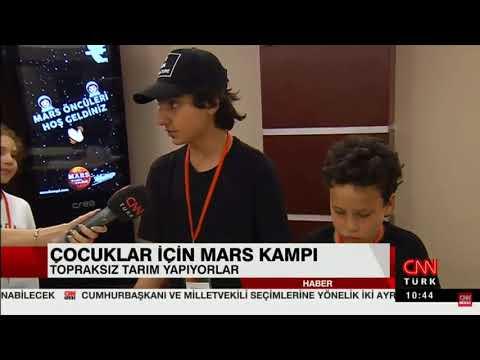CNN Türk, Mars Kampı Yaz Okulu'na konuk oldu.