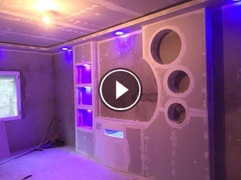 Meuble Tv En Placo Ba13 Youtube