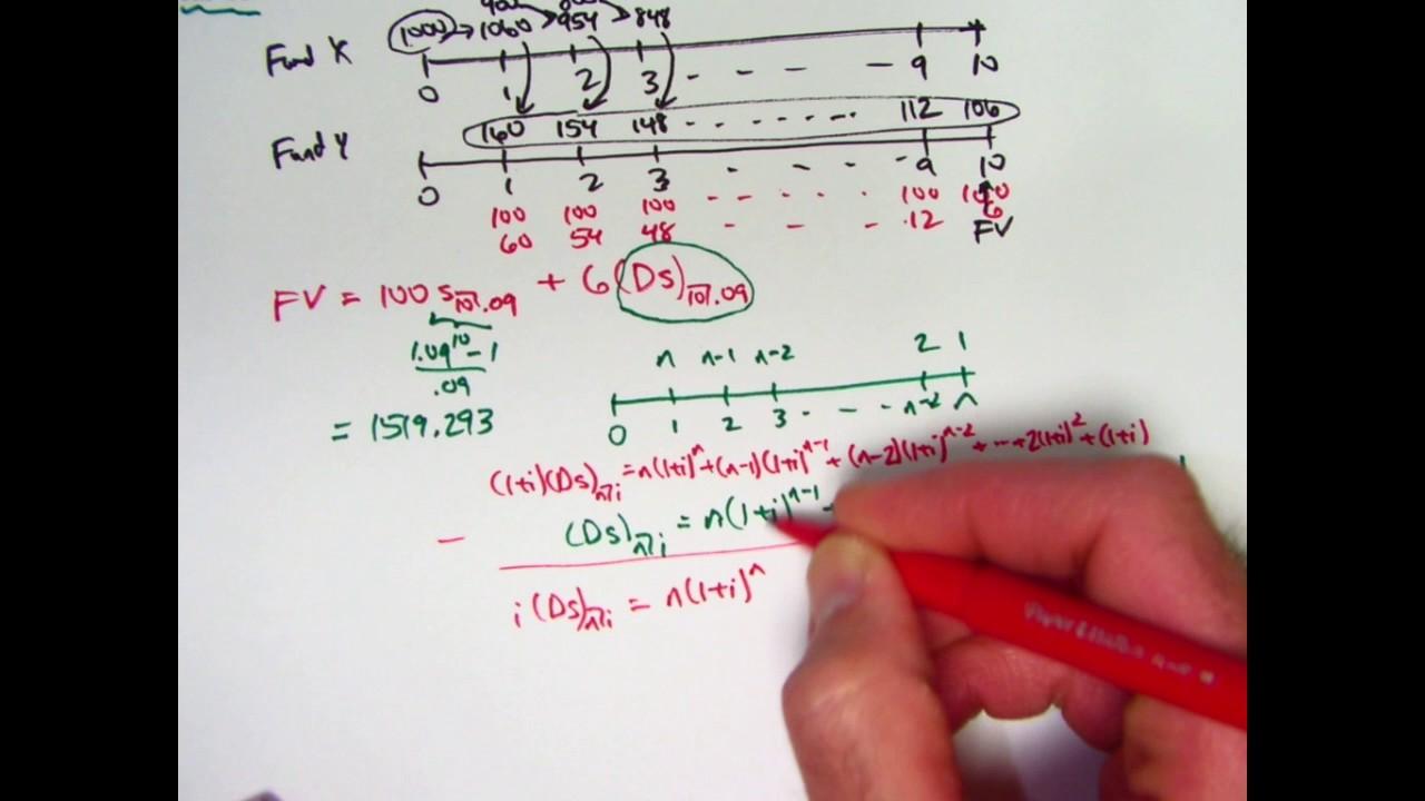 actuarial exam 2  fm prep  future value of decreasing