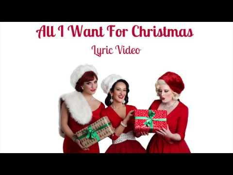 All I Want for Christmas   Lyric Video
