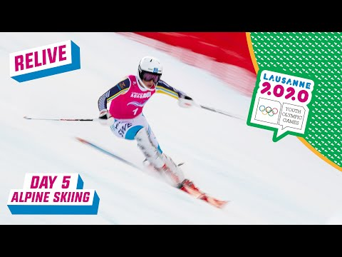 RELIVE - Alpine Skiing - Slalom Run 1 - Day 5 | Lausanne 2020