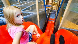 Highest Slide at Draken's Lekland Indoor Playground (fun for kids)