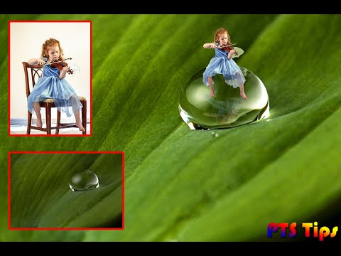 Photoshop Tips - Merging Girl, droplet | Photoshop tutorial thumbnail