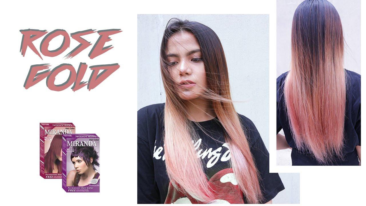 How To Dye Rose Gold Hair Cat Miranda Diy Youtube