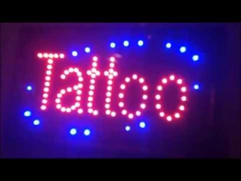 Tattoo XL Lichtreclame LED Neon verlichting Lichtbak TATTOO bord ...